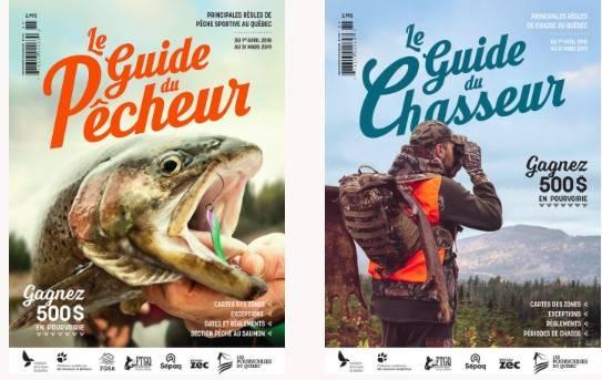 Pêcheurs et chasseurs  ayez vos deux Guides!