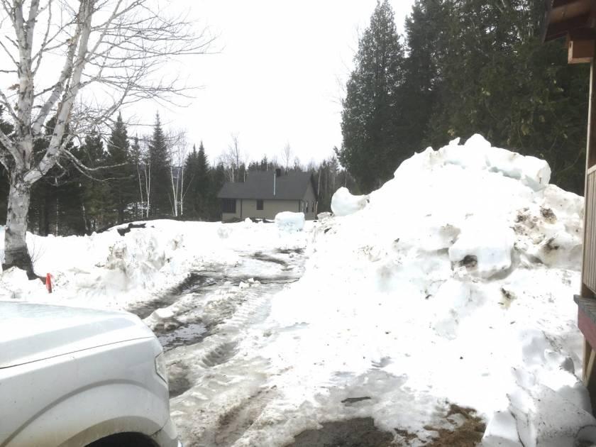 L'hiver s'accroche dans les territoires du haut pays de Rimouski