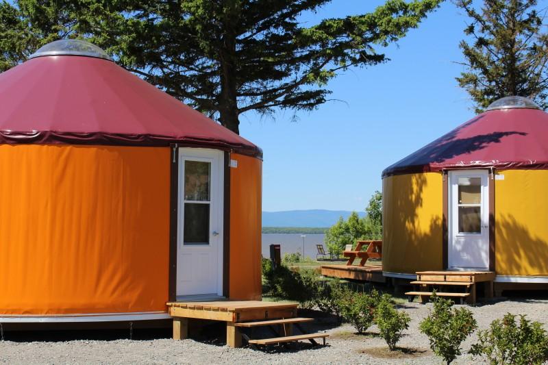 Nouvelles iourtes au Camping Pointe-aux-Oies de Montmagny