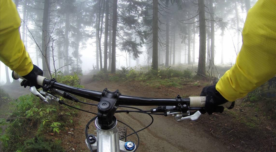 Vers des sentiers de vélo de montagne au Parc national du Mont-Orford