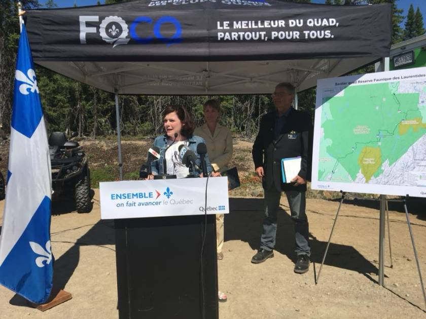 Québec inaugure le sentier de VTT Trans-Québec 50
