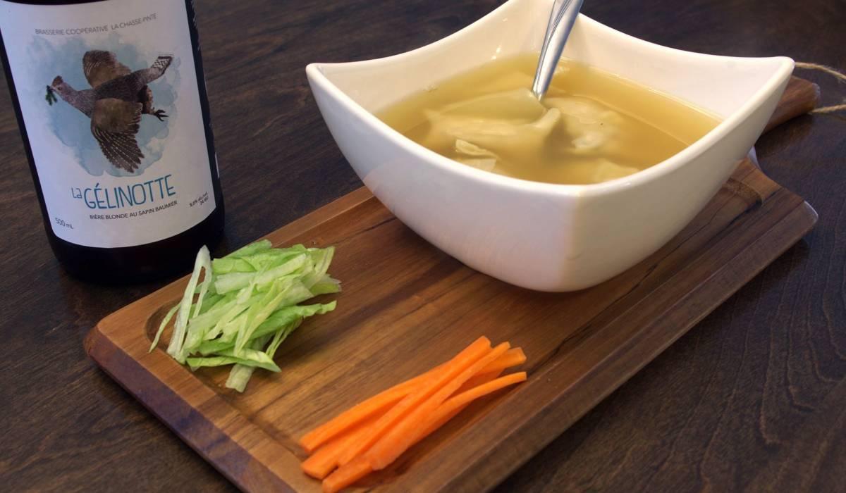 Découvrez une soupe won-ton... à la perdrix!