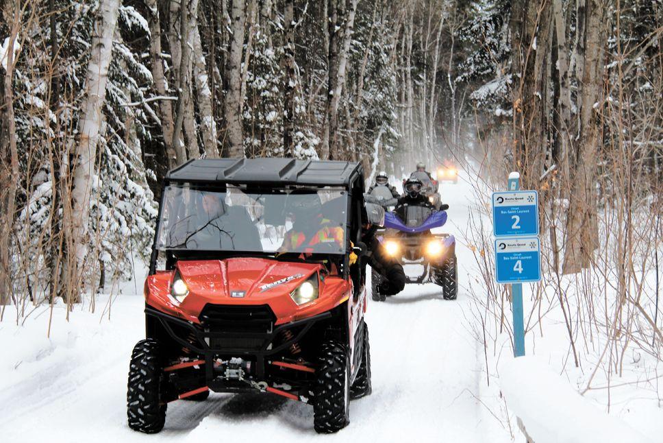 Le quad gagne de plus en plus d'adeptes durant l'hiver