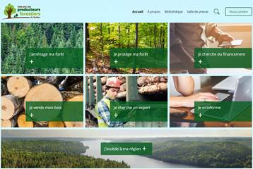La Fédération des producteurs forestiers du Québec lance son nouveau site Web