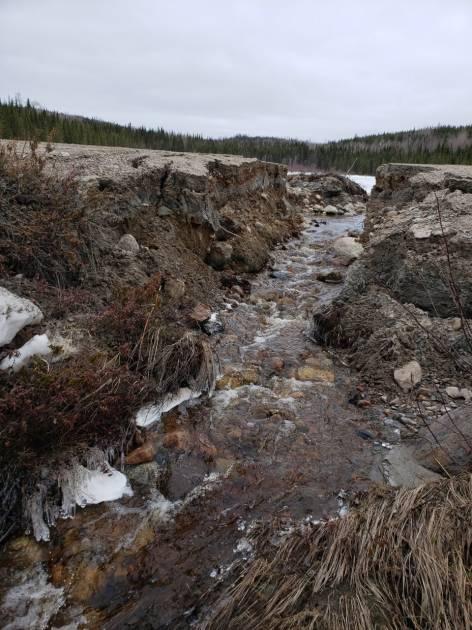 Rupture d'un chemin forestier principal au Lac-Saint-Jean