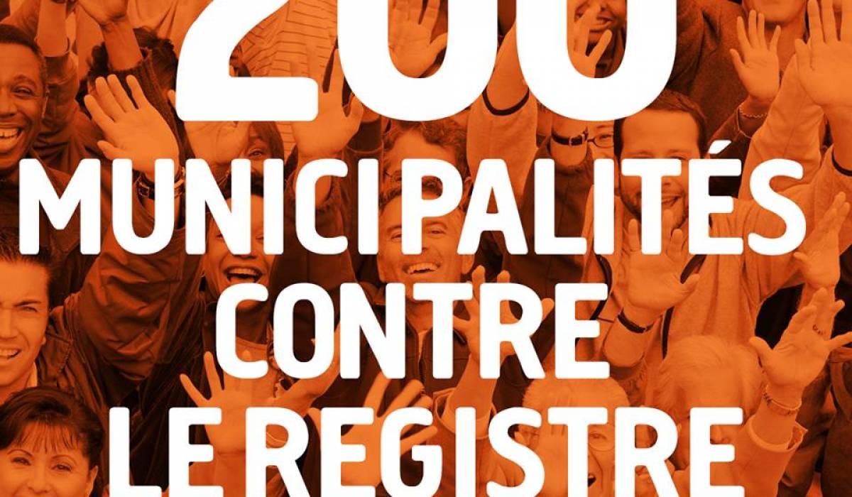 219 municipalités sont maintenant résolument contre le registre
