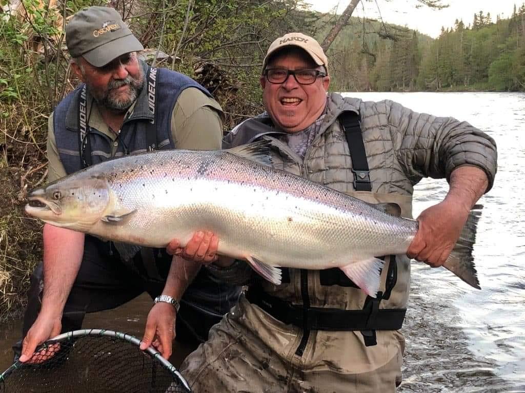 Un saumon de 42 livres pêché dans la rivière Cascapédia en Gaspésie
