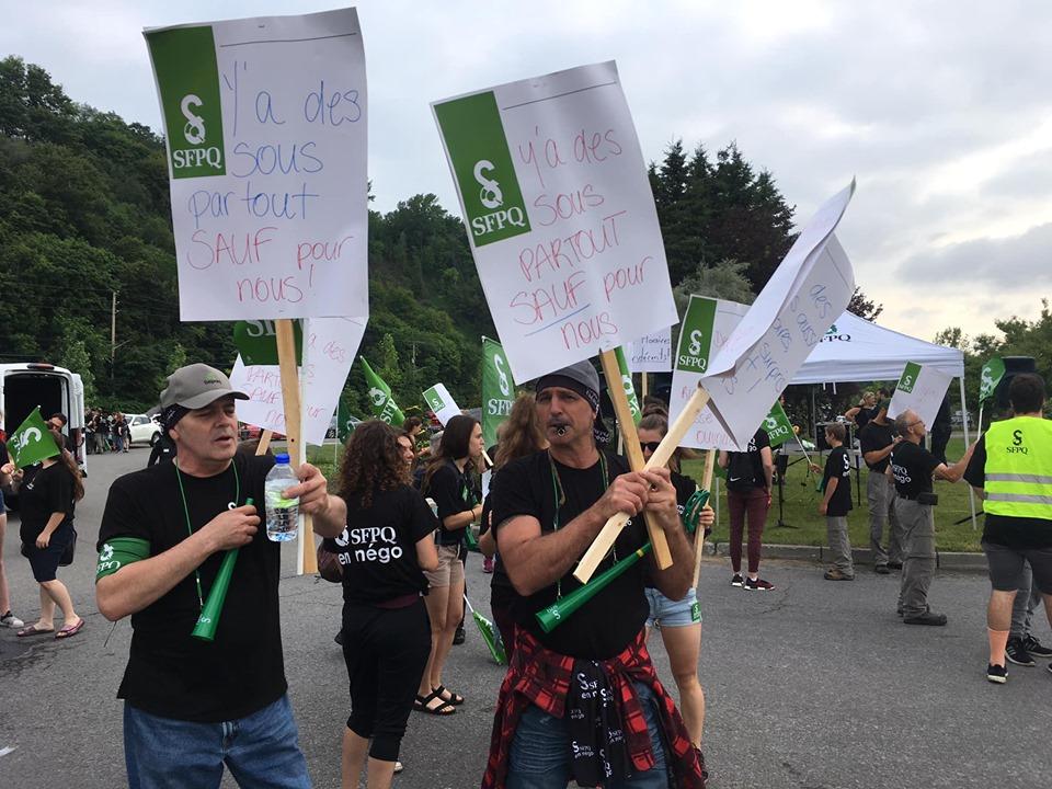 Première phase de la grève déclenchée par des syndiqués de la SÉPAQ