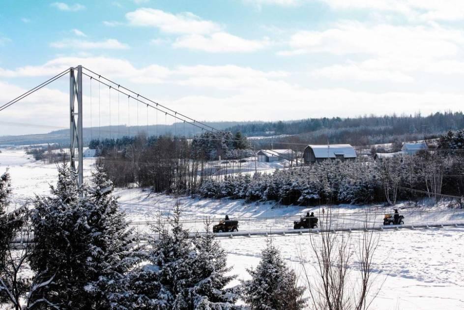 Chaudière-Appalaches, une région à visiter pour les motoneigistes