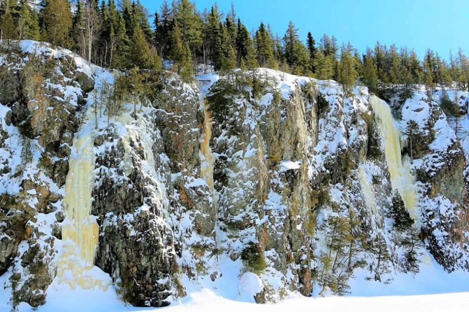 Un festival de glace dans le parc national d'Aiguebelle