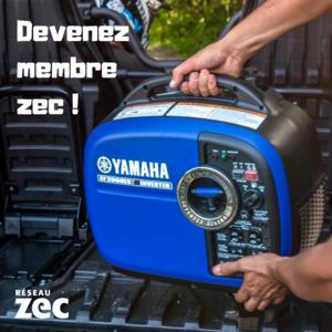 Gagnez une génératrice Yamaha 2020 grâce au Réseau Zec