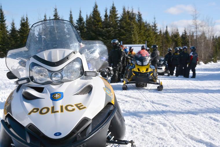 De nombreux motoneigistes interceptés par la Sûreté du Québec