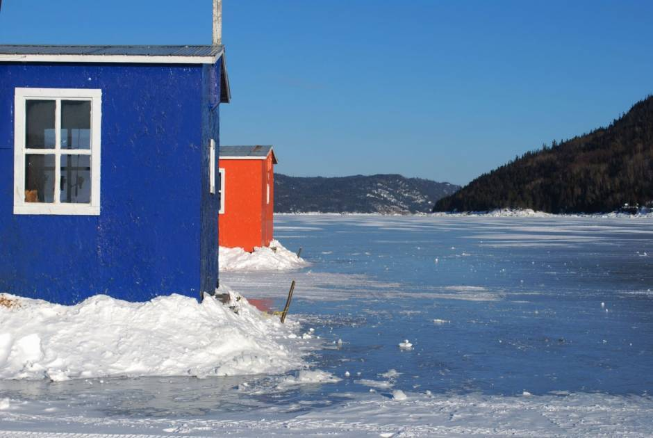 Pas de pêche blanche sur le fjord à L'Anse Saint-Jean