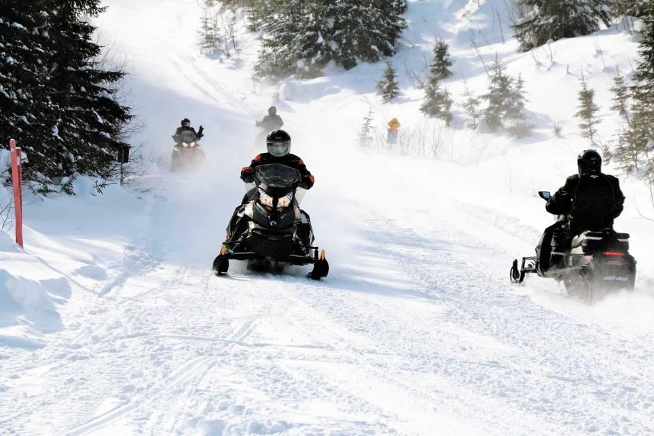 Beaucoup de neige pour les amateurs dans le Bas-Saint-Laurent et en Gaspésie