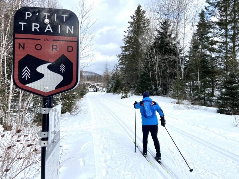 Le randonneur Alexis Nantel a skié « Le P'tit Train du Nord »
