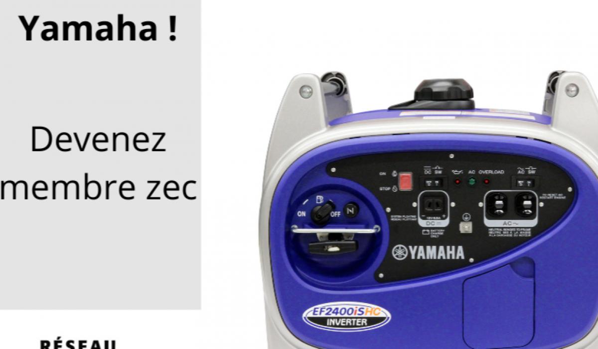 Courez la chance de gagner une génératrice Yamaha