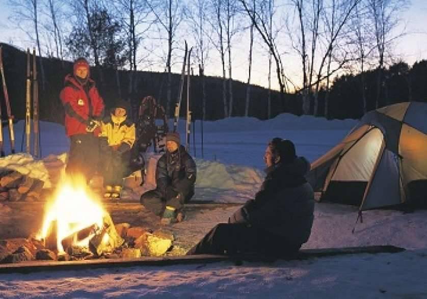 Le camping en tente n'est pas réservé à la saison d'été!