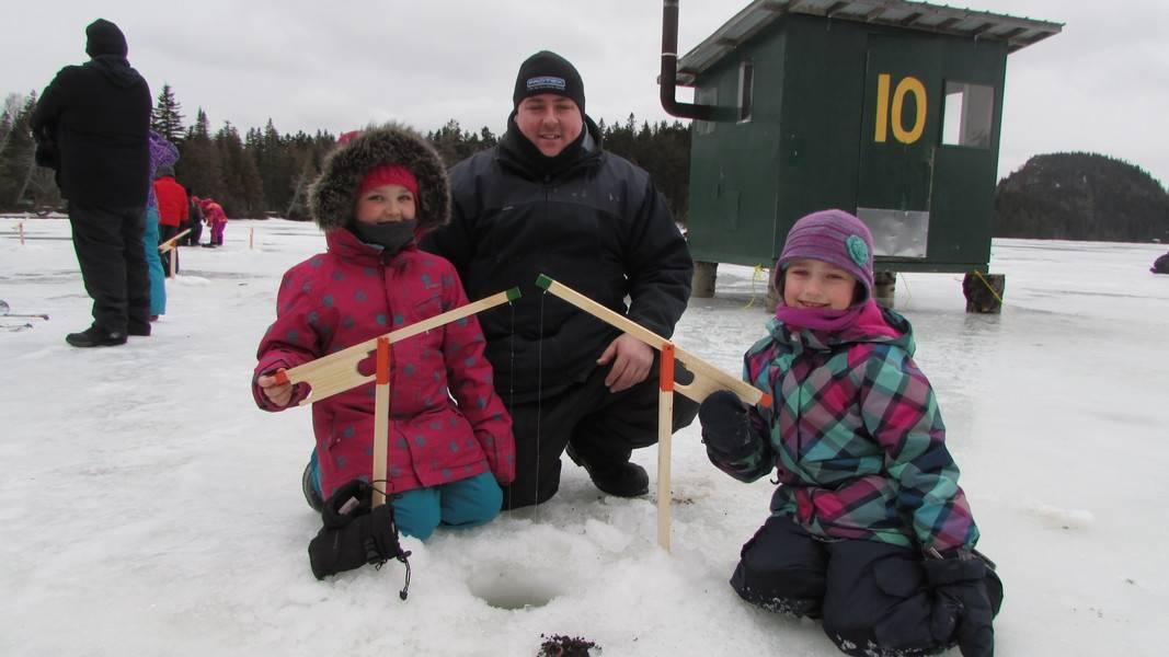 Ouverture du lac Éden de Saint-Stanislas à la pêche d'hiver